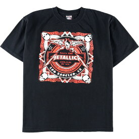 Demon Night METALLICA メタリカ SEEK AND DESTROY HARDWIRED MEXICO CITY MEXICO 2017 マルチプリント バンドTシャツ メンズM /eaa013055 【中古】 【200308】【SS2009】【JS2010】【SS2012】