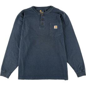 カーハート Carhartt ORIGINAL FIT ヘンリーネック ポケット ロングTシャツ ロンT メンズXL /eaa013087 【中古】 【200313】