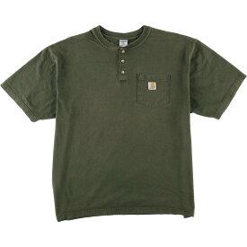 カーハート Carhartt ヘンリーネック ワンポイントロゴポケットTシャツ メンズXL /eaa015511 【中古】 【200323】
