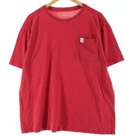 カーハート Carhartt ワンポイントロゴポケットTシャツ メンズXL /eaa014877 【中古】 【200323】