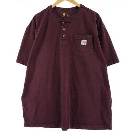 カーハート Carhartt ヘンリーネック ワンポイントロゴポケットTシャツ メンズXXL /wbi7162 【中古】 【200320】