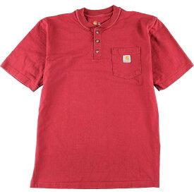カーハート Carhartt ヘンリーネック ワンポイントロゴポケットTシャツ メンズL /wbi7860 【中古】 【200322】