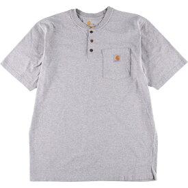 カーハート Carhartt ORIGINAL FIT ヘンリーネック ワンポイントロゴポケットTシャツ メンズXL /wbi7879 【中古】 【200322】