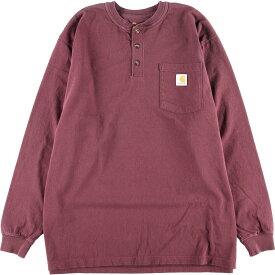 カーハート Carhartt ORIGINAL FIT ヘンリーネック ポケット ロングTシャツ ロンT メンズXL /eaa015626 【中古】 【200328】