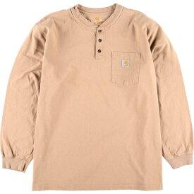 カーハート Carhartt ORIGINAL FIT ヘンリーネック ポケット ロングTシャツ ロンT メンズXXL /eaa015623 【中古】 【200328】