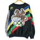 希少レア 80年代 アディダス adidas ストックホルムオリンピック ヘルシンキオリンピック ロゴスウェット トレーナー メンズXL ヴィン…