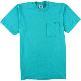 90年代 BVD 無地ポケットTシャツ USA製 メンズL ヴィンテージ /eaa049607 【中古】 【200620】