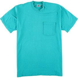 90年代 BVD 無地ポケットTシャツ USA製 メンズL ヴィンテージ /eaa049622 【中古】 【200620】