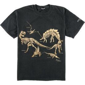 90年代 恐竜 化石 グラフィックTシャツ メンズL ヴィンテージ /eaa051852 【中古】 【200704】【JS2010】