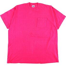 ビッグサイズ 90年代 BVD 無地ポケットTシャツ USA製 メンズXXXL ヴィンテージ /eaa054732 【中古】 【200703】