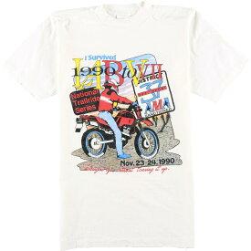 90年代 Alore プリントTシャツ USA製 メンズS ヴィンテージ /eaa054987 【中古】 【200710】【JS2010】【SS2103】