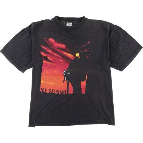 90年代JoeSatrianiジョーサトリアーニworldtourバンドTシャツメンズXLヴィンテージ/eaa055991【中古】【200710】
