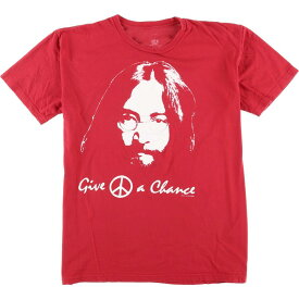JOHN LENNON ジョンレノン GIVE PEACE A CHANCE バンドTシャツ メンズL /eaa056344 【中古】 【200705】【SS2009】