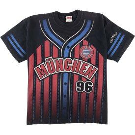90年代 NUTMEG FC BAYERN MUNCHEN FCバイエルンミュンヘン スポーツプリントTシャツ 英国製 メンズXL ヴィンテージ /eaa058552 【中古】 【200716】【JS2010】【SS2106】