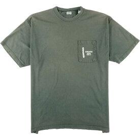 90年代 ゲス Guess ワンポイントロゴポケットTシャツ USA製 メンズXXL ヴィンテージ /eaa064894 【中古】 【200731】