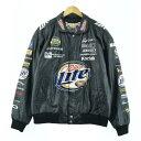90年代 ジェフハミルトン JEFF HAMILTON NASCAR ナスカー レザーレーシングジャケット メンズL ヴィンテージ /eaa059878 【中古】 【20…