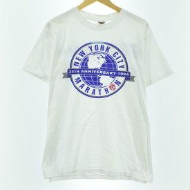 80~90年代 TENNESSEE RIVER NEW YORK CITY MARATH プリントTシャツ USA製 メンズL ヴィンテージ /eaa060482 【中古】 【200809】