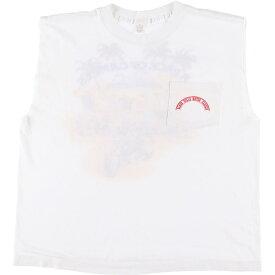 90年代 カットオフ プリントTシャツ USA製 メンズXL ヴィンテージ /eaa071388 【中古】 【200814】