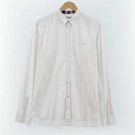バーバリー Burberry's 長袖 コットンストライプシャツ メンズL /eaa060158 【中古】 【200824】