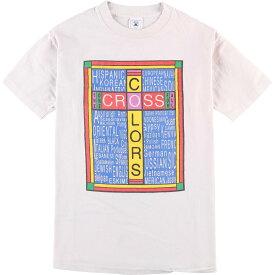 90年代 DELTA CROSS COLORS クロスカラーズ プリントTシャツ USA製 メンズM ヴィンテージ /eaa075640 【中古】 【200829】【JS2010】【SS2103】【SS2106】