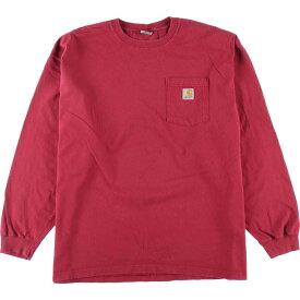 カーハート Carhartt ポケット ロングTシャツ ロンT メンズXL /eaa105311 【中古】 【201129】【SS2103】【SS2106】