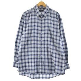 バーバリー Burberry's BURBERRY LONDON 長袖 ボタンダウンチェックシャツ USA製 メンズXL /eaa132714 【中古】 【210221】