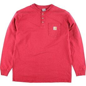 カーハート Carhartt ヘンリーネック ポケット ロングTシャツ ロンT メンズL /eaa129441 【中古】 【210225】【SS2106】