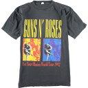 90年代 GUNS N' ROSES ガンズアンドローゼズ USE YOUR ILLUSIONS WORLD TOUR 1992 バンドTシャツ メンズM ヴィンテージ /eaa134836 【…