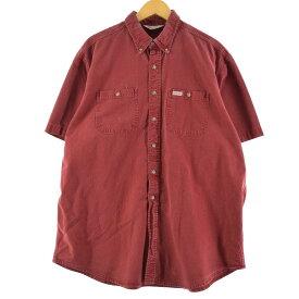 カーハート Carhartt 半袖 ボタンダウン ワークシャツ メンズXXL /eaa149960 【中古】 【210411】