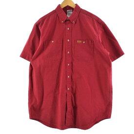 カーハート Carhartt 半袖 ボタンダウン ワークシャツ メンズXL /eaa149963 【中古】 【210411】