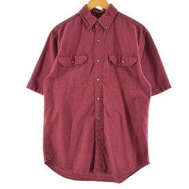 カーハート Carhartt 半袖 ボタンダウン ワークシャツ メンズL /eaa149973 【中古】 【210411】