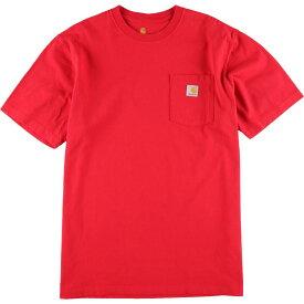 カーハート Carhartt ORIGINAL FIT 半袖 ポケットTシャツ メンズXL /eaa150345 【中古】 【210415】