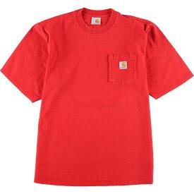 カーハート Carhartt 半袖 ポケットTシャツ メンズL /eaa150354 【中古】 【210415】
