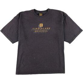 90年代 ティンバーランド Timberland ロゴTシャツ USA製 メンズXL ヴィンテージ /eaa152263 【中古】 【210419】