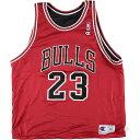 90年代 チャンピオン Champion NBA CHICAGO BULLS シカゴブルズ MICHAEL JORDAN マイケルジョーダン リバーシブル ゲームシャツ レプリ…