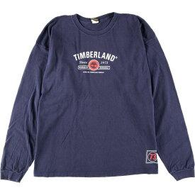 ビッグサイズ 90年代 ティンバーランド Timberland ロングTシャツ ロンT USA製 メンズ3XL ヴィンテージ /eaa164963 【中古】 【210521】