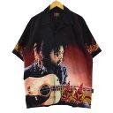 ボブマーリー BOB MARLEY オープンカラー 半袖 チカーノシャツ ボックスシャツ メンズL /eaa164903 【中古】 【210521】