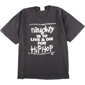 90年代 ヘインズ Hanes Hip Hop Hooray ヒップホップフーレイ NAUGHTY HIPHOP バンドTシャツ USA製 メンズL ヴィンテージ /eaa166579 【中古】 【210611】