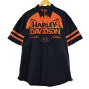 ハーレーダビッドソン Harley-Davidson 半袖 ワークシャツ メンズXL /eaa173633 【中古】 【210701】
