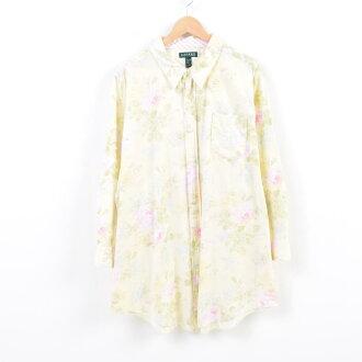 Ralph Lauren Ralph Lauren LAUREN Lauren whole pattern floral design long sleeves cotton shirt Lady's XL /wau0486