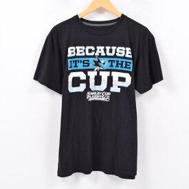 NHL SAN JOSE SHARKS サンノゼ シャークス BECAUSE IT'S THE CUP プリントTシャツ メンズL /wbc4480 【中古】 【190328】【SS1909】