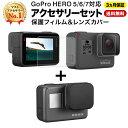 [ フィルム & レンズカバー セット ] GoPro ゴープロ Go Pro アクセサリー HERO7 BLACK HERO6 HERO5 専用 両面 液晶 …