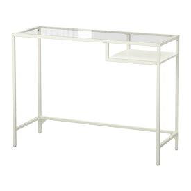 【★IKEA/イケア★】VITTSJO ラップトップテーブル ホワイト/ガラス/103.034.45