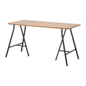 【★IKEA/イケア★】HILVER / LERBERG テーブル 竹/グレー/490.471.57