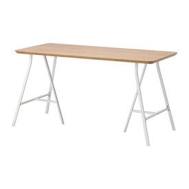 【★IKEA/イケア★】HILVER / LERBERG テーブル 竹/ホワイト/690.471.56