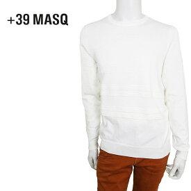 【50%OFF】+39 masq (マスク) クルーネックセーター [メンズ] CCZ205-206/2045【WHT/S・M・L・XL・XXL・XXXLサイズ】 ホワイト コットンセーター サマーニット イタリア製【店頭受取対応商品】【あす楽】
