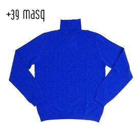 【40%OFF】+39 masq (マスク) タートルネックセーター [メンズ] 4101【BLU(670)/S・M・L・XL・XXLサイズ】 ブルー メリノウール イタリア製【店頭受取対応商品】【あす楽】