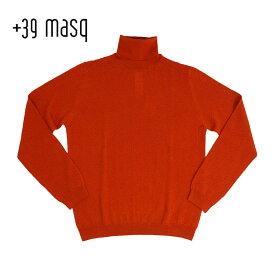 【ポイント5倍】+39 masq (マスク) タートルネックセーター [メンズ] 4101【BWN(560)/S・M・L・XL・XXLサイズ】 ブラウン メリノウール イタリア製【店頭受取対応商品】
