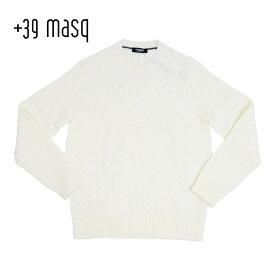 +39 masq (マスク) クルーネック ウールセーター [メンズ] 4135【WHT(125)/S・M・L・XL・XXLサイズ】 ホワイト ニット イタリア製【店頭受取対応商品】【あす楽】