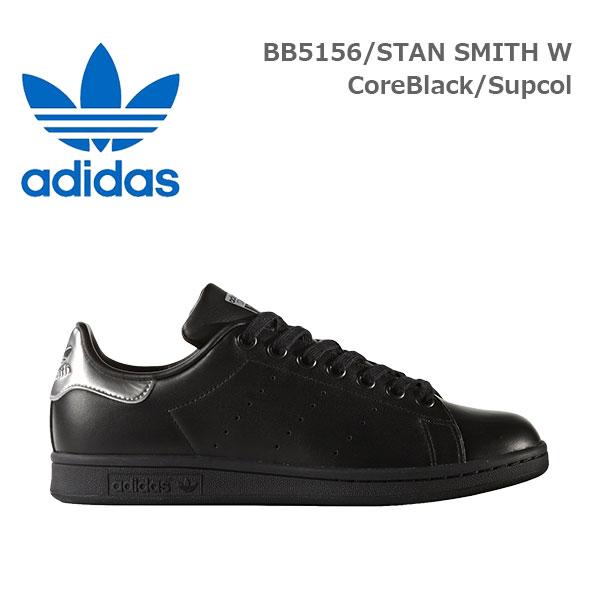 adidas originals (アディダス・オリジナルス) STAN SMITH W スニーカー [レディース] BB5156 【BLK/22.5(WUS5.5)-28cm(WUS11.0)】スタンスミス ブラック シルバー メタリック デボス加工 ユニセックス10P03Dec16【あす楽】